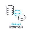 finance structures concept outline icon linear vector image vector image