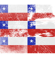 Flag of Chile with old texture vector image