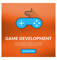 Flat design concept for game development wi vector image