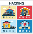 flat house security system hacking concept vector image vector image