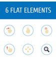 flat icons slide zoom out swipe and other vector image vector image