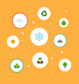 flat icons sprout eco energy foliage and other vector image vector image