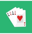 Four aces Gambling entertainment vector image