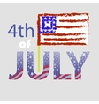 Independence Day of USA American Flag 4 July vector image vector image