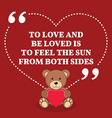 Inspirational love marriage quote To love and be vector image vector image