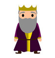 isolated king cartoon character vector image