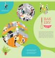 isometric professional cooking in bakery concept vector image