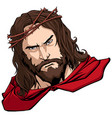 jesus superhero portrait vector image vector image