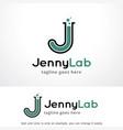 letter j lab logo template design vector image