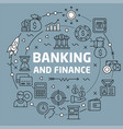 lines background banking and finance vector image vector image