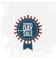 Memorial Day Sale national Label with Text vector image vector image