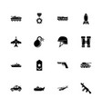 military - flat icons vector image vector image