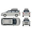minivan mockup isolated vehicle template side vector image vector image
