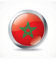 Morocco flag button vector image