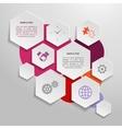 Paper business infographics design elements vector image vector image