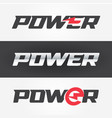 power steel and black color logo with lightning vector image