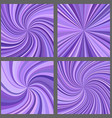 Purple spiral and ray burst background set vector image vector image