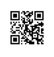 qr code on white isolated background vector image