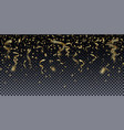 realistic shiny gold confetti with blur effect vector image