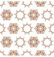 Seamless of nine angle stars and six petal flowers vector image vector image