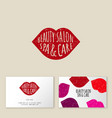 seamless pattern lips and pearls beauty background vector image