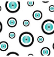 seamless pattern with evil eye vector image