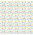 Seamless pattern with numbers for school design vector image