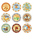 set - cute bright summer badges with slogan vector image