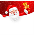 signboard with santa claus vector image