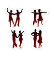 silhouettes dancing couples vector image
