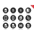 Sim card icons on white background vector image