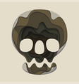 skull is an origami design print for halloween vector image