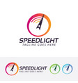 speed light logo design vector image vector image