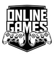 sport logo gamepads for play game vector image vector image