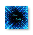 square blank with neon light vector image vector image