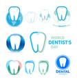 tartar tooth inflammation gums logos vector image vector image