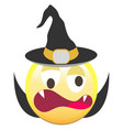 the halloween smiley icon vector image vector image