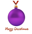 Toy ball hanging on red ribbon vector image vector image