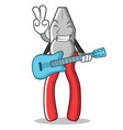 with guitar pliers character cartoon style vector image vector image