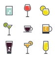 Set of beverage icons vector image