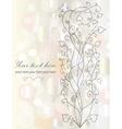 Retro floral background for card vector image