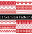 12 nordic style seamless christmas pattern vector image vector image