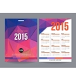 2015 calendar template brochure geometric design vector image vector image