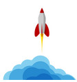 a rocket flying into space starting or starting vector image