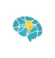 brain science technology logo vector image vector image