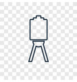 canvas concept linear icon isolated on vector image