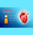 cardio anti arrhythmic poster vector image vector image
