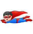 cartoon superhero boy flying vector image