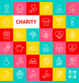 charity line icons vector image