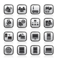 Communication and technology equipment icons vector image vector image